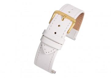 Pulseira de relógio Universal X104SWI / 24MM Couro Branco 24mm