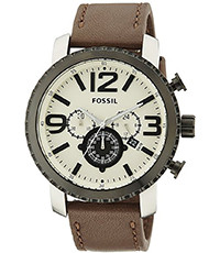 Pulseira de relógio Fossil BQ1712 Couro Marrom 24mm
