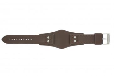 Pulseira de relógio Fossil CH2565 Couro Marrom 22mm