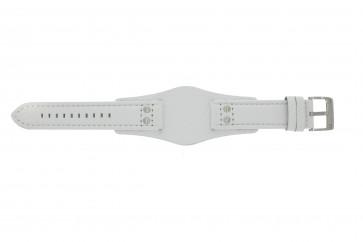 Fossil pulseira de relógio CH2592 Couro Branco 22mm