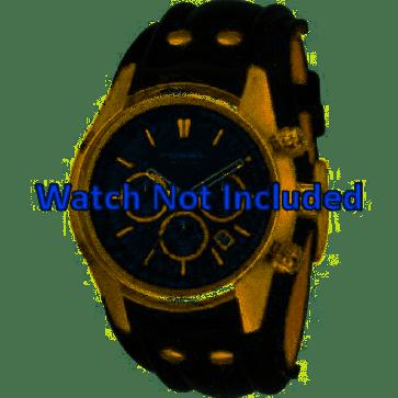 Pulseira de relógio Fossil CH2615 Couro Preto 22mm