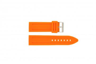 Pulseira de relógio Universal DS253.12.24 Silicone Laranja 24mm