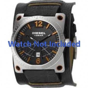 Diesel pulseira de relogio DZ1212 Couro Preto 28mm + costura padrão