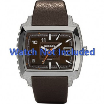 Diesel pulseira de relogio DZ1364 Couro Castanho escuro 25mm
