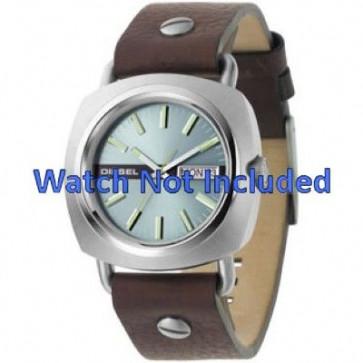 Pulseira de relógio Diesel DZ2146 Couro Marrom 22mm