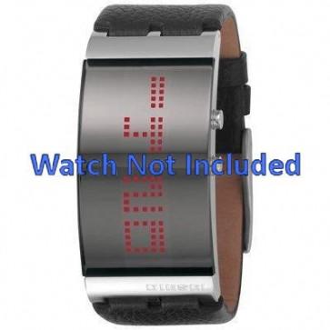 Diesel pulseira de relogio DZ7092 Couro Preto 30mm