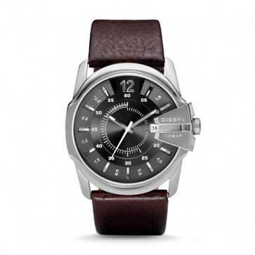 Diesel pulseira de relógio DZ-1206 / DZ-1234 / DZ-1259 / DZ-1399 Couro Castanho 27mm