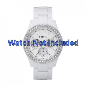 Pulseira de relógio Fossil ES1967 Plástico Branco 9mm