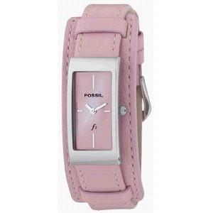 Pulseira de relógio Fossil ES9859 Couro Rosa 14mm