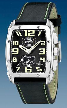 ff8e3821f27 Pulseira de relógio Festina F16259 4 Couro Preto
