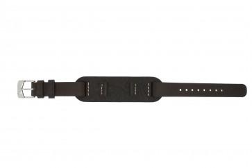 Pulseira de relógio Fossil JR1158 Couro Marrom 14mm