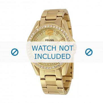 Pulseira de relógio Fossil ES3203 / 25XXXX Aço Banhado a ouro 18mm