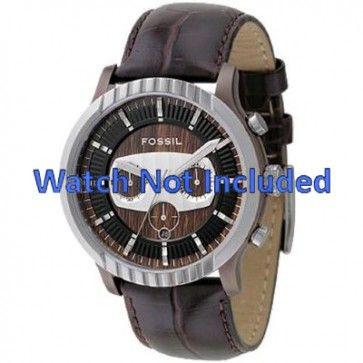 Pulseira de relógio Fossil FS4441 Couro Marrom 27mm