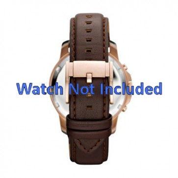 Fossil pulseira de relógio FS-4648 Couro Castanho 22mm