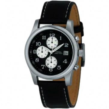 Pulseira de relógio Fossil FS2898 Couro Preto 22mm