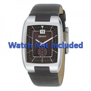 Pulseira de relógio DKNY NY1319 Couro Marrom 20mm