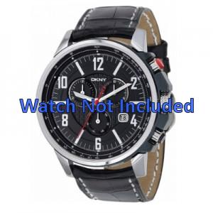 Pulseira de relógio DKNY NY1325 Couro Preto 22mm