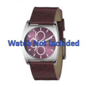 Pulseira de relógio DKNY NY3426 Couro Bordéus 24mm