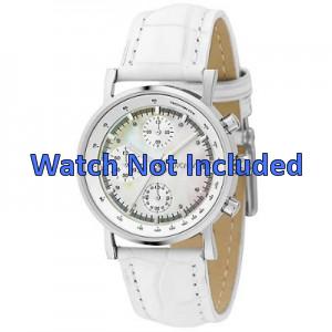 DKNY pulseira de relogio NY4528 Couro Branco 18mm + costura padrão