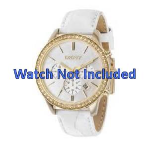 Pulseira de relógio DKNY NY4844 Couro Branco 20mm