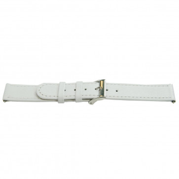 Bracelete em pele genuína branca 22 mm