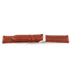 Bracelete de relógio em pele genuína conhaque castanha 12mm EX-G62