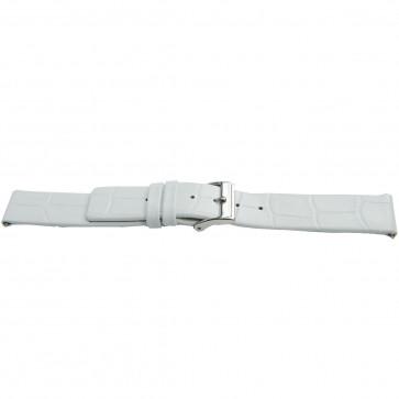 Pulseira de relógio Universal H520 Couro Branco 22mm