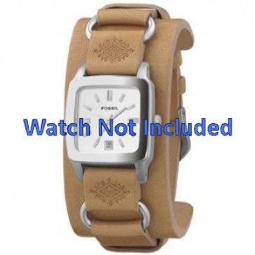 Pulseira de relógio Fossil JR8300 Couro Marrom 16mm