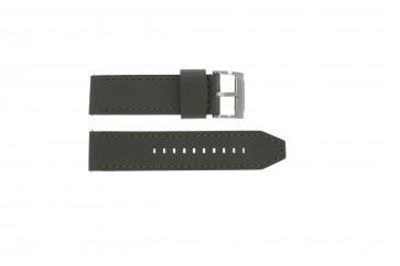 Fossil pulseira de relógio JR1419 Couro Cinza 24mm + costura cinza
