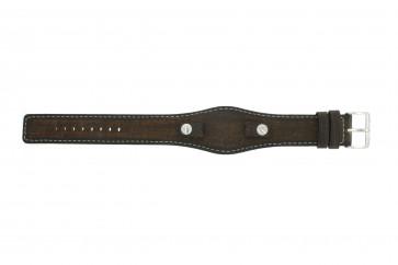 Pulseira de relógio Fossil JR8130 Couro Marrom 10mm