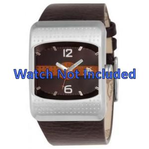 Pulseira de relógio Fossil JR9389 Couro Marrom 16mm