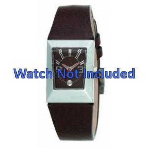 Pulseira de relógio Fossil JR9407 Couro Marrom 20mm