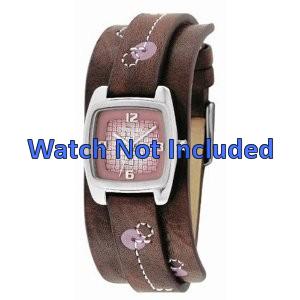 Fossil pulseira de relógio JR-9512 Couro Castanho 12mm