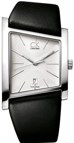 d3f07fad0d786 Pulseira de relógio Calvin Klein K0Q211   K0Q21107   K0Q21120 Couro Preto  28mm