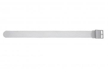 Pulseira de relógio Universal PRLN.18.W Nylon/pérola Branco 18mm
