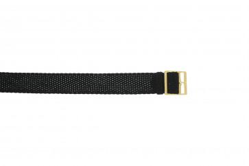 Bracelete Perlon em preto 14mm