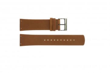 Pulseira de relógio Skagen SKW6106 Couro Conhaque 22mm