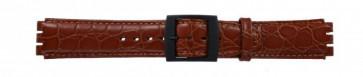Pulseira de relógio Swatch SC10.03 Couro Marrom 17mm