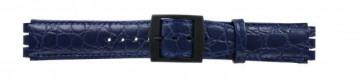 Pulseira de relógio Swatch SC10.05 Couro Azul 17mm