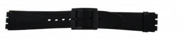 Pulseira de relógio Swatch SC15.01 Couro Preto 16mm