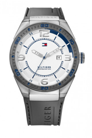 ebd7a755754 Pulseira de relógio Tommy Hilfiger TH12512909   TH675010692 Borracha Cinza  21mm