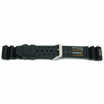 Pulseira de relógio Universal XH13 Borracha Preto 22mm