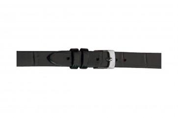 Morellato pulseira de relogio Thin D2860656019CR06 / PMD019THINA06 Couro croco Preto 6mm