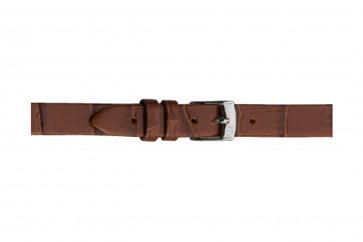 Morellato pulseira de relogio Thin D2860656041CR08 / PMD041THINA08 Couro croco Marrom 8mm