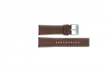 Fossil pulseira de relógio AM-3891 Couro Castanho 25mm