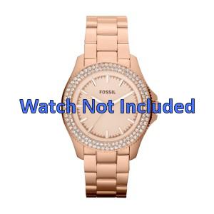 Fossil pulseira de relógio AM4454 Aço Dourado (Rosé) 18mm