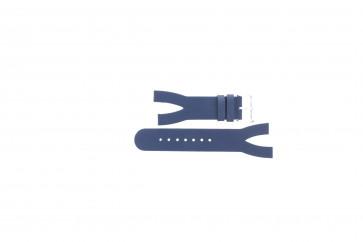 Pulseira de relógio Davis BB1403 Couro Azul 10mm