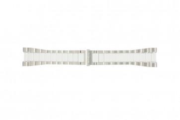 Breil pulseira de relógio BW0224 Aço Branco 27mm