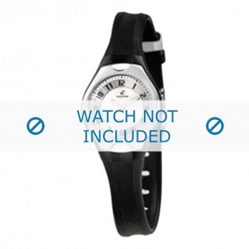 Pulseira de relógio Calypso K5163-2 Borracha Preto 8mm