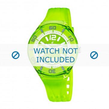 Calypso pulseira de relogio K5588/7  Borracha / plástico Verde